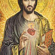 Sacred Heart of Jesus olmc Art Print