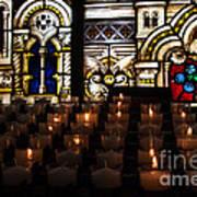 Sacred Heart Prayer Candles Art Print