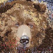 Sad Brown Bear Art Print