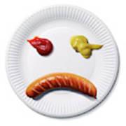 Sad Food Face Art Print
