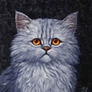 Sad Kitty Art Print
