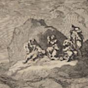 Sad State Of Seven Sailors From The Ship The Karseboom Art Print