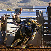 Saddle Bronc Riding Competition Art Print