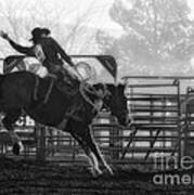 Saddle Bronc Riding Art Print