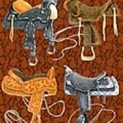 Saddle Leather Art Print