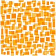 Saffron Yellow Abstract Art Print