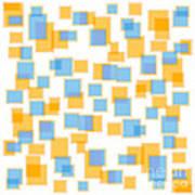 Saffron Yellow And Azure Blue Art Print