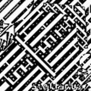 Sagittarius Maze  Art Print