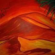 Sahara Kubry Art Print by Haleema Nuredeen