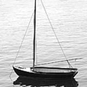 Sail Boat In Maine Print by Mike McGlothlen