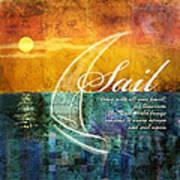 Sail Art Print by Evie Cook