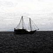 Sail In Black Sea- Viator's Agonism Art Print
