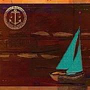 Sail Sail Sail Away - J173131140v3c4b Art Print