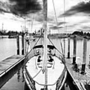 Sailboat Docked Art Print by John Rizzuto