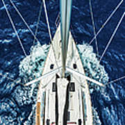 Sailboat From Above Art Print