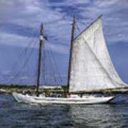 Sailboat In Cape May Channel Art Print