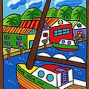 Sailboat In The Window Art Print