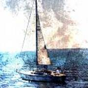 Sailboat Light W Metal Art Print