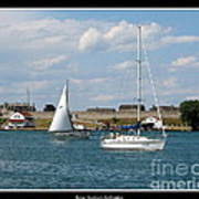 Sailboat On Lake Ontario Near Old Fort Niagara 2 Art Print