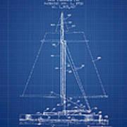 Sailboat Patent From 1932 - Blueprint Art Print