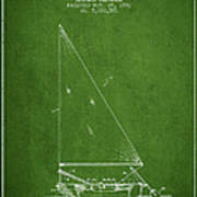 Sailboat Patent From 1991- Green Art Print