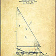 Sailboat Patent From 1991- Vintage Art Print