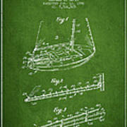 Sailboat Patent From 1996 - Green Art Print