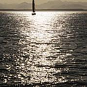 Sailboat Silhouette Art Print