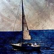 Sailboat Slow W Metal Art Print