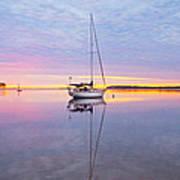Sailboat Sunrise Art Print