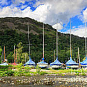 Sailboats At Glenridding In The Lake District Art Print