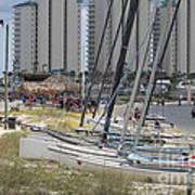 Sailboats For Playtime Art Print