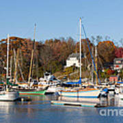 Sailboats In Camden Harbor I Art Print