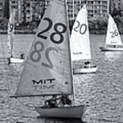 Sailboats On The Charles River II Print by Clarence Holmes