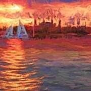 Sailboatsunset Art Print