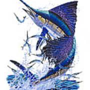 Sailfish Print by Carey Chen