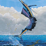 Sailfish Dance Off0054 Art Print