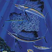 Sailfish Round Up Off0060 Art Print