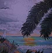 Sailing Along The Shore Art Print