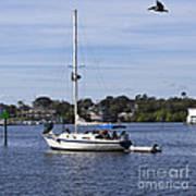 Sailing At Ballard Park On The Eau Gallie River In Melbourne Flo Art Print