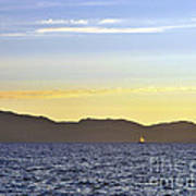 Sailing At Sunset - Lake Tahoe Art Print
