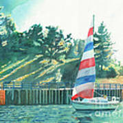 Sailing Back To Port Art Print