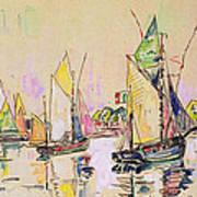 Sailing Boats At Les Sables D Olonne  Art Print