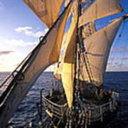 Sailing Boats Kruzenshtern Art Print by Anonymous