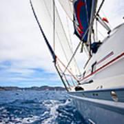 Sailing Bvi Art Print by Adam Romanowicz