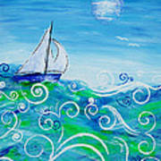 Sailing By Jan Marvin Art Print