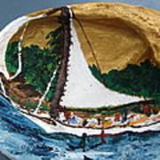 Sailing Forest Sea Art Print