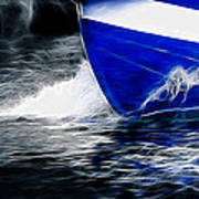 Sailing In Blue Art Print