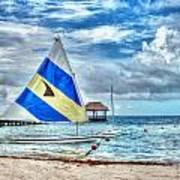 Sailing In Cancun Art Print