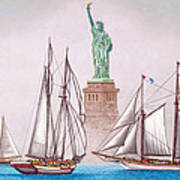 Sailing In Good Company Art Print